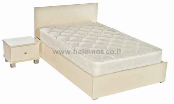 מיטה זוגית עם ארגז מצעים שמפניה פלוס