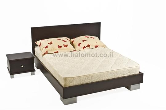 מיטה חלום וחצי עם ראש מיטה - דגם שוקולד