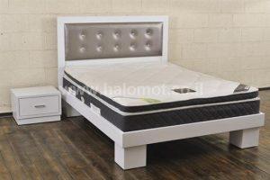 מיטה חלום וחצי עם ראש מיטה מרופד - דגם טוקיו