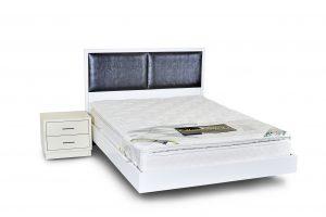 מיטה זוגית מרחפת עם ראש מיטה - דגם כריות