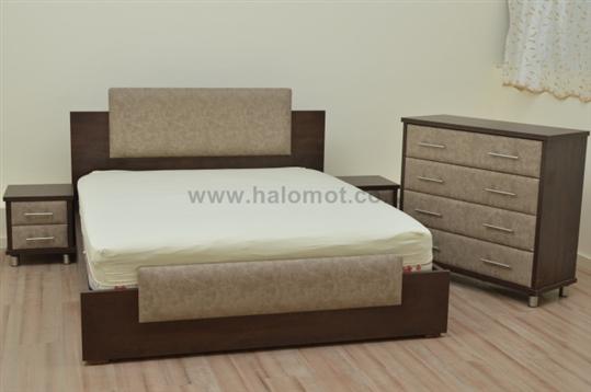 מיטה זוגית עם ארגז מצעים - דגם נועם