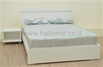 מיטה זוגית עם מזרן אורטופדי
