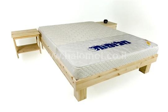 מיטה זוגית מעץ מלא כפיר במבצע