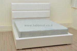 מיטה זוגית עם ארגז מצעים - דגם שלג
