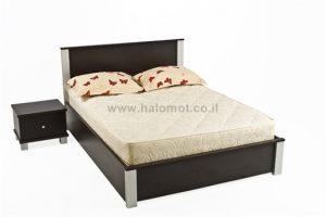 מיטה זוגית עם ארגז מצעים וראש מיטה - דגם מיקס
