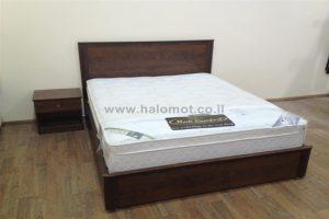 מיטה זוגית עם ארגז מצעים - דגם אור
