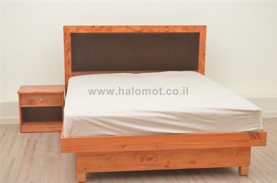 מיטה זוגית עם ארגז מצעים פגודה פלוס