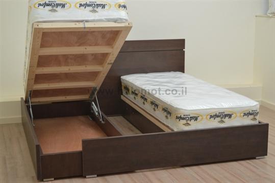 מיטה יהודית עם ארגזי מצעים דגם סנדי