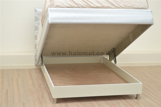 מיטה זוגית עם ארגז מצעים דגם כתר