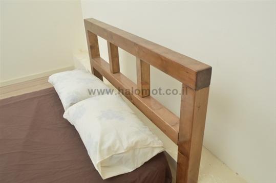 מיטה זוגית מעץ מלא אלמוג פלוס