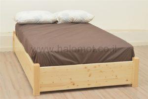 מיטה חלום וחצי עם ארגז מצעים מעץ מלא - מאור
