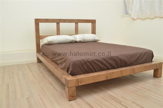 מיטה חלום וחצי מעץ מלא - דגם אלמוג פלוס