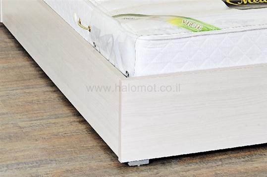 מיטה זוגית עם ארגז מצעים דגם וניל