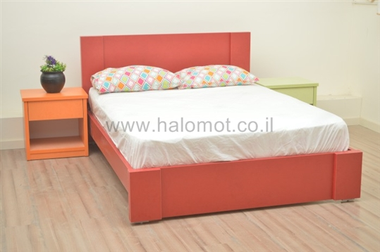 מיטה עם ארגז מצעים דגם רקפת