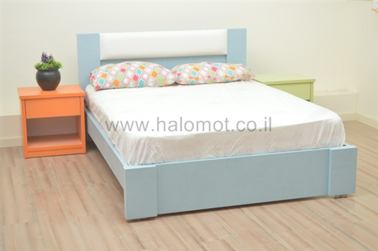 מיטה עם ארגז מצעים דגם רקפת כרית