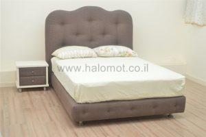 מיטה זוגית מרופדת עם ארגז-קינג סליפ
