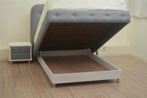 מיטה זוגית מרופדת עם ארגז - מילאנו