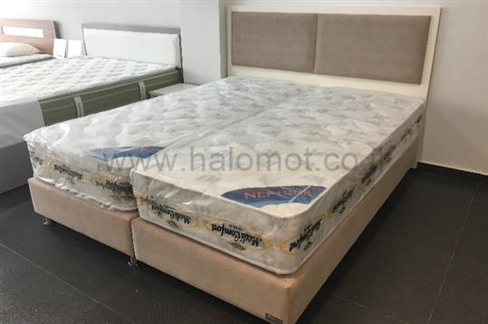 מיטה יהודית מרופדת דגם קורל