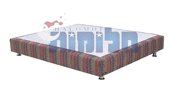 בסיס מיטה מרופד זוגי ללא ארגז מצעים