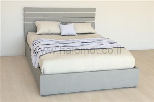 מיטה זוגית עם ארגז מצעים דגם סהרה