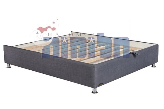 בסיס מיטה מרופד זוגי עם ארגז מצעים