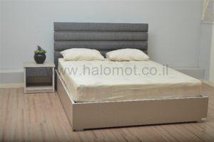 מיטה זוגית עם ארגז מצעים דגם אורית