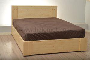 מיטה זוגית מעץ מלא דגם רפאל