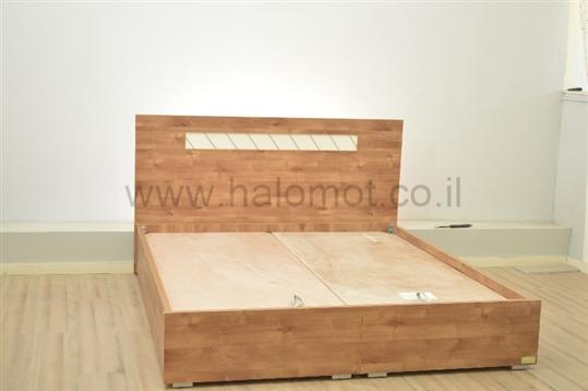 מיטה זוגית עם ארגז מצעים דגם ויטראז