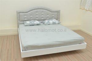 מיטה זוגית מרחפת עם ראש כתר