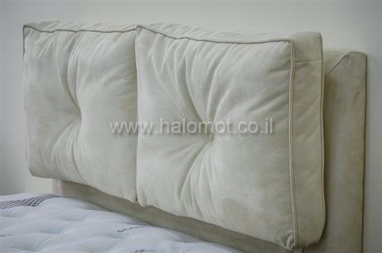 מיטה זוגית מרופדת דגם מלכה