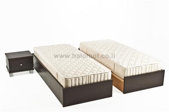 מיטה יהודית עם ארגזי מצעים דגם ספיר