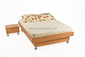 מיטה זוגית עם ארגז מצעים - דגם ניר