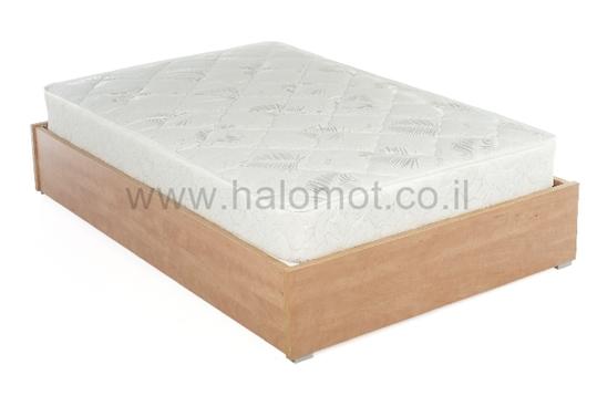 מיטה חלום וחצי עם ארגז מצעים - דגם שמפניה
