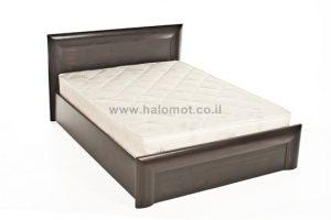 מיטה זוגית עם ארגז מצעים מעץ מלא - דגם סקויה