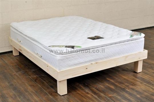 מיטת נוער מעץ מלא - דגם כפיר צבוע