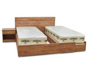 מיטה יהודית עם ארגזי מצעים דגם אלעד