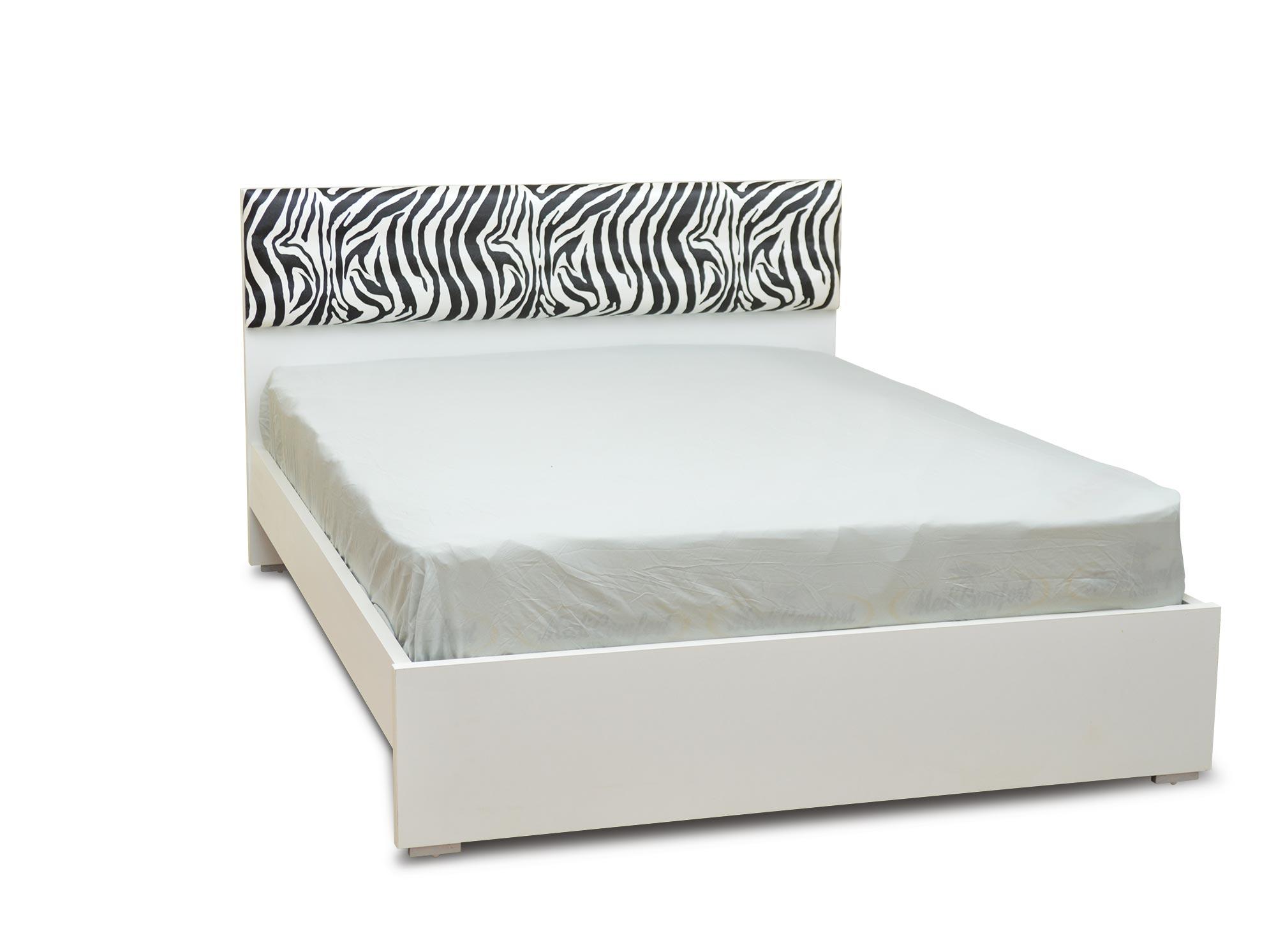 מיטה זוגית זברה