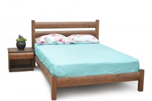 מיטה זוגית מעץ מלא דגם שיקגו