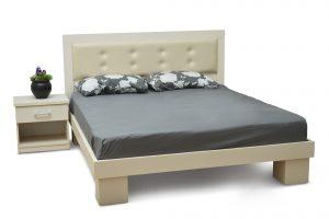 מיטה זוגית דגם טוקיו ראש מרופד