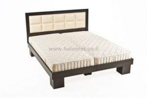 מיטה יהודית עם ראש מיטה מרופד - דגם טוקיו