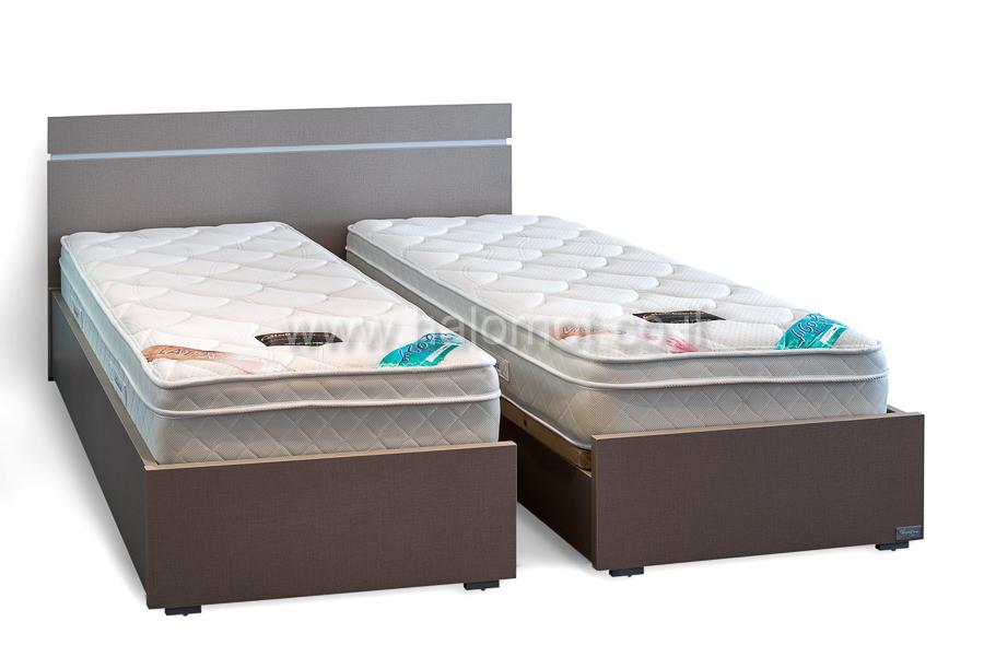 מיטה יהודית עם ארגזי מצעים דגם ספיר ראש סנדי