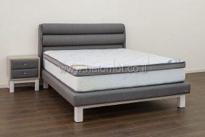 מיטה זוגית מרופדת דגם גלילית