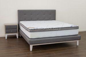 מיטה זוגית מרופדת דגם אלון
