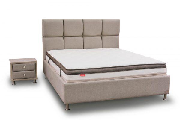 מיטה זוגית מרופדת דגם ברצלונה
