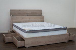 מבריק מיטה זוגית עם ארגז מצעים | אספקה מהירה לכל הארץ | חלומות - רשת HD-16