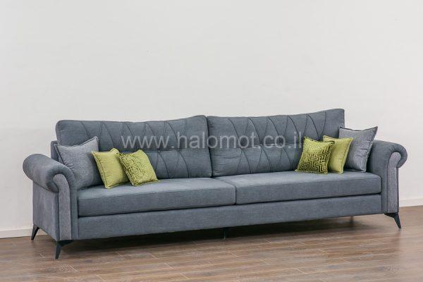 ספה תלת מושבית לסלון דגם רומא כרית חלקה