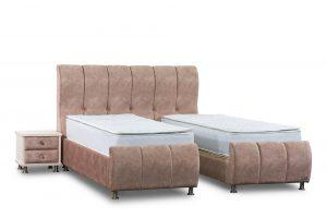 מיטה יהודית מרופדת דגם ליאן פלוס ארגז מצעים