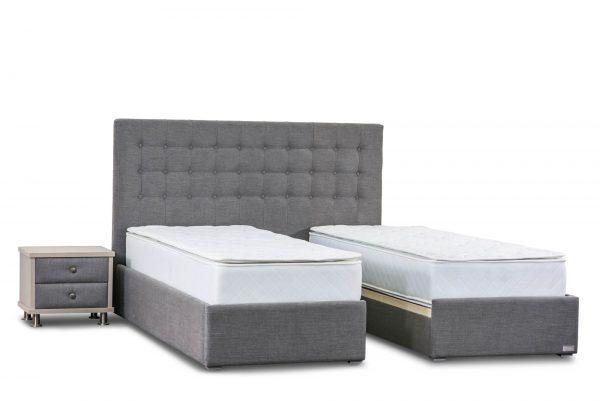 מיטה יהודית מרופדת דגם חן פלוס ארגז מצעים