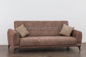 ספה תלת נפתחת למיטה זוגית עם ארגז מצעים - דגם אילן