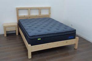 מיטה זוגית דגם אייל פלוס - מעץ מלא